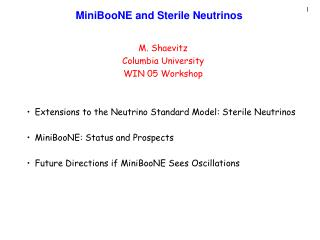 MiniBooNE and Sterile Neutrinos