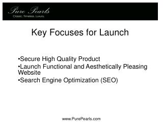 Key Focuses for Launch