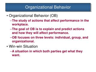 the importance of individual organizational behavior