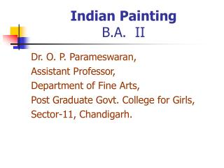 Indian Painting B.A.  II