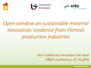 Open window on sustainable material innovation: evidence from Flemish production industries