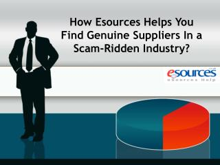 How Esources Helps You Find Genuine Suppliers In a Scam-Ridd