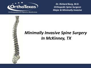 Minimally Invasive Spine Surgery In McKinney, TX