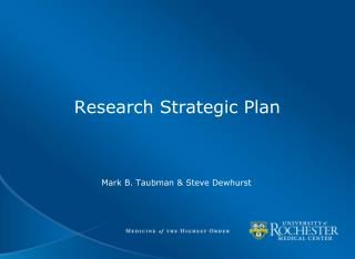 Research Strategic Plan