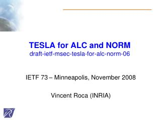 TESLA for ALC and NORM draft-ietf-msec-tesla-for-alc-norm-06