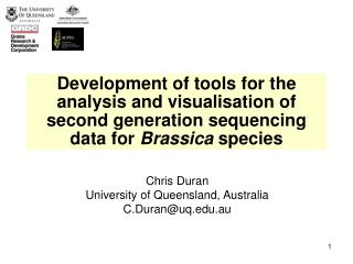 Chris Duran University of Queensland, Australia C.Duran@uq.au