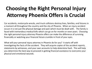 Choosing the Right Personal Injury Attorney Phoenix Offers i