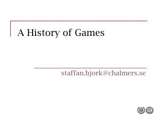 A History of Games