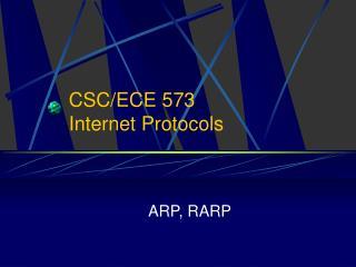 CSC/ECE 573 Internet Protocols