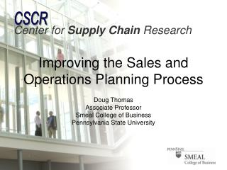 Improving the Sales and Operations Planning Process