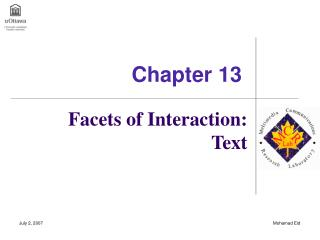 Facets of Interaction: Text