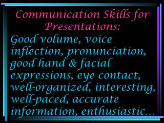Communication Skills for Presentations: