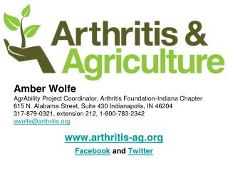 Amber Wolfe AgrAbility Project Coordinator, Arthritis Foundation-Indiana Chapter