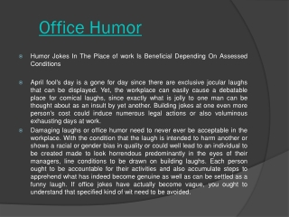 Read more about Office Jokes