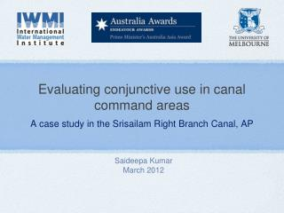 Evaluating conjunctive use in canal command areas