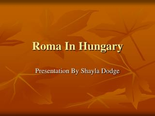Roma In Hungary