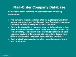 Mail-Order Company Database