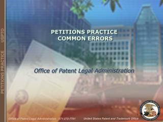 PETITIONS PRACTICE  COMMON ERRORS