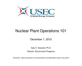 Nuclear Plant Operations 101