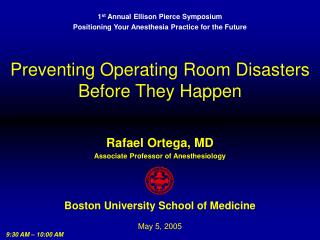 Preventing Operating Room Disasters Before They Happen