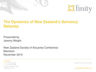 The Dynamics of New Zealand's Solvency Reforms
