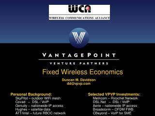 Fixed Wireless Economics