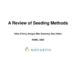 A Review of Seeding Methods