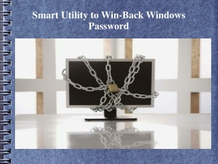 Restore Windows Password with Smartest Utility