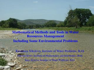Mathematical Methods and Tools in Water Resources Management