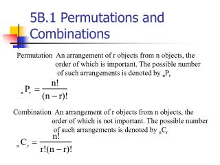 5B.1 Permutations and Combinations