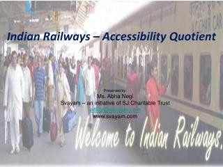 Indian Railways – Accessibility Quotient