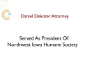 Daniel DeKoter Attorney Served As President Of Northwest Iow