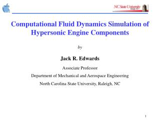 Computational Fluid Dynamics Simulation of Hypersonic Engine Components