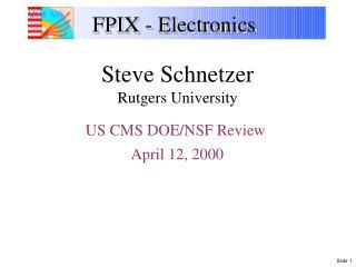 FPIX - Electronics