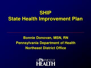 SHIP State Health Improvement Plan