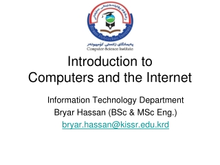 Introduction to Computers and the Internet