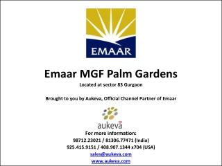 Emaar MGF Palm Gardens Gurgaon, a Good Investment