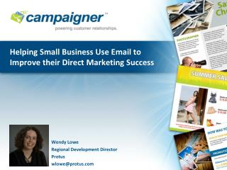 Helping Small Business Use Email to Improve their Direct Marketing Success