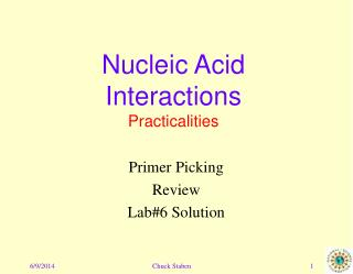 Nucleic Acid Interactions Practicalities