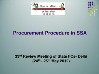 Procurement Procedure in SSA