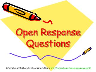 Open Response Questions