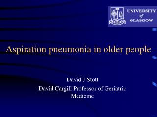 Aspiration pneumonia in older people