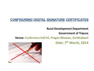 Rural Development Department Government of Tripura