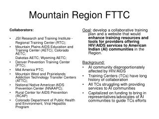 Mountain Region FTTC