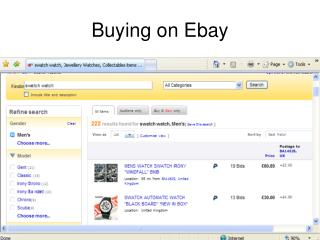 Buying on Ebay