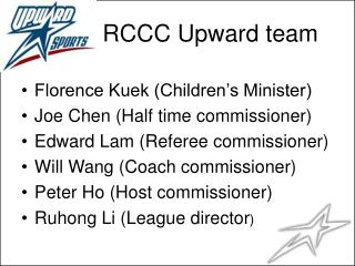 RCCC Upward team