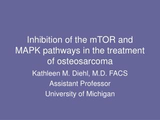 Inhibition of the mTOR and MAPK pathways in the treatment of osteosarcoma