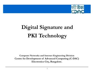 Digital Signature and  PKI Technology