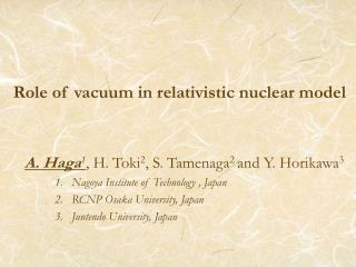 Role of vacuum in relativistic nuclear model