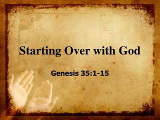 Starting Over with God